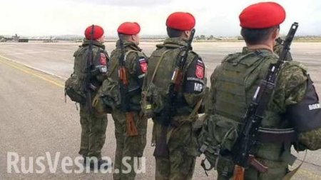 Russian «red berets» took under the protection of Syrian refugees